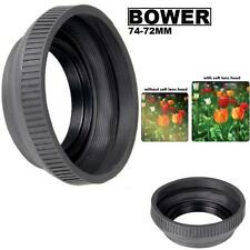 Bower Rubber Lens Hood For Sony DSC-H50 DSC-H9 DSC-H7 DSC-HX1 (74-72mm)