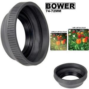 Bower Rubber Lens Hood For Sony DSC-H50 DSC-H9 DSC-H7 DSC-HX1 (74-72mm)