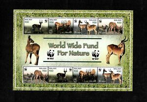 MODERN GEMS - Malawi 2003 - WWF for Nature Puku Antelope - Souvenir Sheet - MNH
