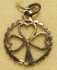 NOS Sterling Silver Lucky Shamrock Charm Made in Ireland