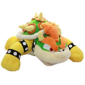 King Bowser Koopa Plush Toy Super Mario Bros Stuffed Doll 10'' Xmas Holiday Gift