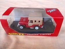 Rare Verem Metal Jeep CJ2A Offroad 4x4 Toy 1/43 Orig. Box Willys CJ5 Wrangler