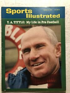 1965 Sports Illustrated NEW YORK Giants YA TITTLE My Life NEWSSTAND No Label