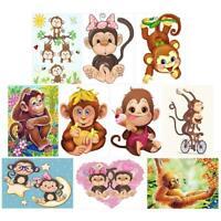 5D DIY Full Drill Diamond Painting Monkey Embroidery Mosaic Craft Kit Decor BF#