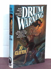 1st, signed by mapmaker, Drums of Chaos 1: Drum Warning by Jo Clayton (1996,HB)