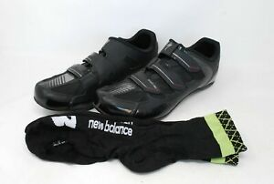 Shimano Men's Cycling Shoes Sport RBX Rd UK Size 10.5 EU 45 Black With Socks