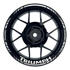 Triumph Standard silber Felgenaufkleber Motorrad Felgenrandaufkleber Wheelsticke