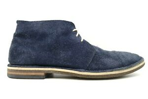 Cole Haan Navy Blue Distressed Suede Lace Up Chukka Ankle Boots Men's 9 M