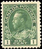 Canada Mint H 1911 F+ Scott #104 1c Admiral King George V Stamp Issue