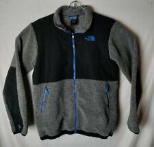 THE NORTH FACE Boys XL 18/20 Denali Fleece Full Zip Jacket Grey Blue