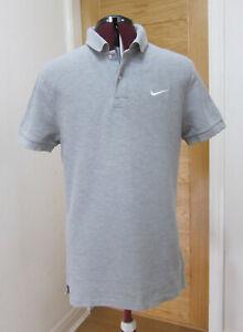 NIKE Grey Short Sleeve Polo Shirt UK M