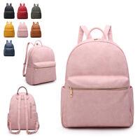 Ladies Large Zip Rucksack Girls College Backpack School Shoulder Handbag MA36489