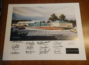 John Q Hammons Missouri Sports Hall Of Fame 1994 Special Enshrinement Print