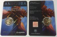 2 Euro Gedenkmünze/Sondermünze Andorra 2018 25 Jahre Verfassung sofort lieferbar