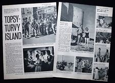BRITISH ARMY LIFE IN CYPRUS JAMES & OONAGH ROBINSON ETC 2pp PHOTO ARTICLE 1955