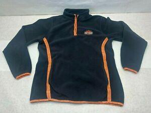 Harley-Davidson 1/4 Zip Fleece Jacket Ladies Large