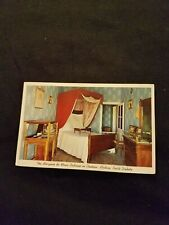 The Marquise de Mores Bedroom in Chateau Medora North Dakota Old Postcard Unused
