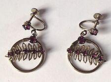 boucles d'oreilles a pas de vis bijou rétro couleur argent pierre 1629