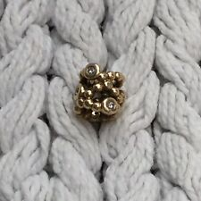 AUTHENTIC GENUINE PANDORA 14ct GOLD DIAMOND ABSTRACT CHARM 750458D