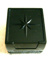 BLACK VINTAGE OLD STOCK  BAKELITE PLASTIC 'SUC MADE N U.S.A.' RING BOX 4PCS LOT