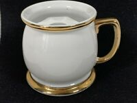Vintage MUSTACHE MUG - Gold Trim - 7843 Stamp