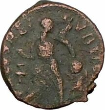 ARCADIUS 383AD Ancient Roman Coin VICTORY Nike  Chi-Rho Christ Monogram i25706