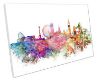 LONDON SKYLINE CANVAS WALL ART PICTURE LARGE 75 X 50 CM