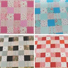 Polycotton Fabric Check Patchwork Floral Ditsy Flowers