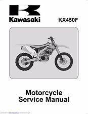 Kawasaki service workshop manual 2012, 2013 & 2014 KX450F