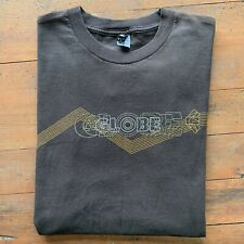 Vintage Early 00s Globe Mens Large Spellout Skateboarding Tee Shirt Brown Skate