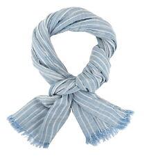écharpe pour hommes bleu blanc rayures par Ella Jonte COTON VISCOSE Maritime
