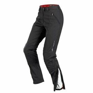 Spidi Women's Glance Motorcycle Pants Black CE Armor XL Short