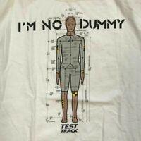 """Retro Walt Disney World  """"I'm No Dummy"""" Test Track Single Stich XL T-Shirt"""