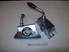 One pair of 48mm Split Clamps for Trailer Jockey Wheel or Prop stand