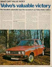 Volvo 66 GL Saloon Value Index Victory 1977 UK Market Foldout Brochure What Car?