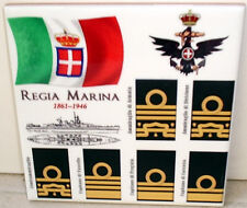 Regia Marina ~Marina Italiana~Italian royal navy 1861-1946 ranks CERAMIC TILE