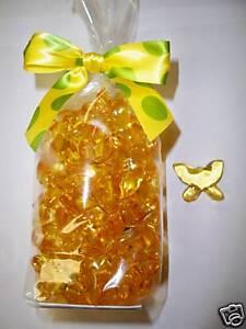 50 Yellow Butterfly Gardenia Bath Oil Beads