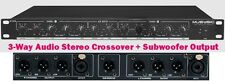 PROFESSIONAL 3-WAY AUDIO STEREO CROSSOVER + SUBWOOFER OUTPUT MUSYSIC MU-CO3W