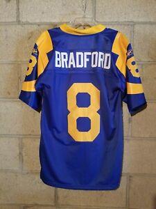Sam Bradford Reebok Jersey, Los Angeles Rams, Blue Throwback sz S. FREE SHIPPING