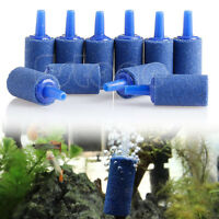 10pcs Cylinder Aquarium Bubble Fish Tank Air Stone Fish Tank Aerator Diffuser QY