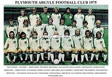 PLYMOUTH ARGYLE  F.C. TEAM PRINT 1975 (MARINER/RIOCH/HORSWILL/FURNELL)