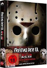 Blu Ray/DVD Freitag der 13. Teil 7 VII Uncut Mediabook - Jason im Blutrausch NEU