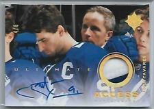 20 UD Ultimate GOLD Access JOHN TAVARES Auto Patch #d /6 TORONTO MAPLE LEAFS