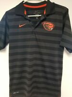 Mens Extra Small XS Oregon State Nike Dri Fit Black Polo Shirt Beavers