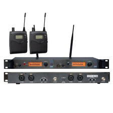 UHF Wireless In ear Monitor System Dual Channels Monitoring Headphones for Stage