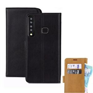 Case For Samsung Galaxy A9 2018 Phone Luxury Leather Magnetic Flip Wallet Cover