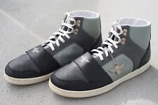 CREATIVE RECREATION MENS LEATHERS CESARIO SIZE 12 SNEAKERS BLACK GRAY SHOES