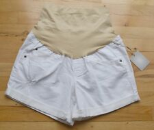 NWT aglow maternity distressed boyfriend shorts white (14) MSRP $44