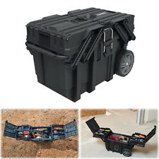 Husky 25 in. Heavy Duty Rolling Tool Box Lockable Cantilever Mobile Job Storage