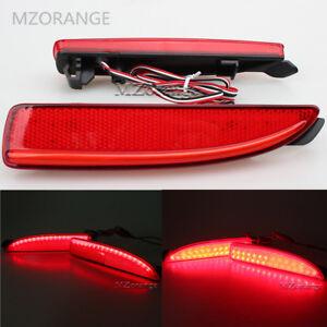 For Mazda 3 5 6 Rear Bumper Reflector LED Tail Brake Stop Fog Real Light Red Len